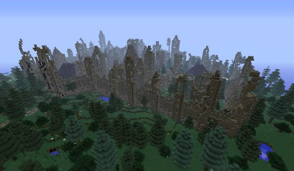 City, Wall and Ruin Generators Mod for Minecraft 1.7.2