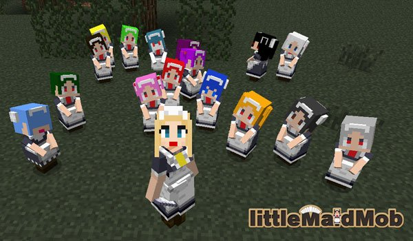 LittleMaidMob Mod for Minecraft 1.7.10