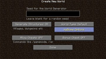 myBiome Mod for Minecraft 1.11 and 1.11.2