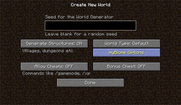 myBiome Mod for Minecraft 1.7.10