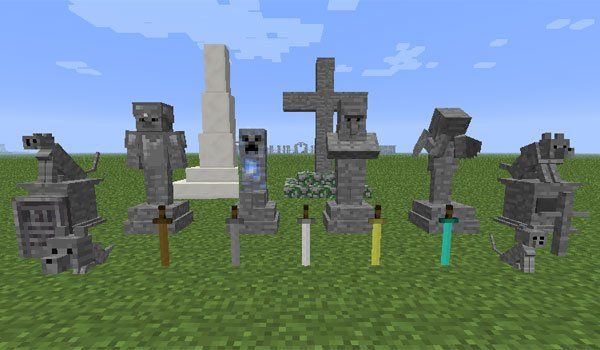 Gravestone Mod for Minecraft 1.7.10 and 1.7.2