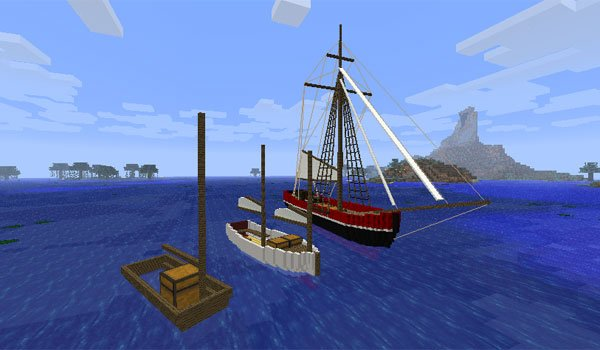 Small Boats Mod for Minecraft 1.7.10