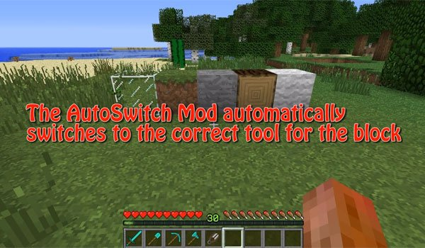 AutoSwitch Mod for Minecraft 1.7.2 and 1.7.10
