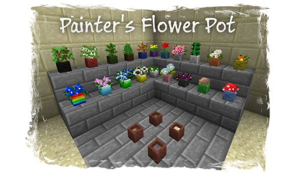 Painter's Flower Pot Mod for Minecraft 1.6.2