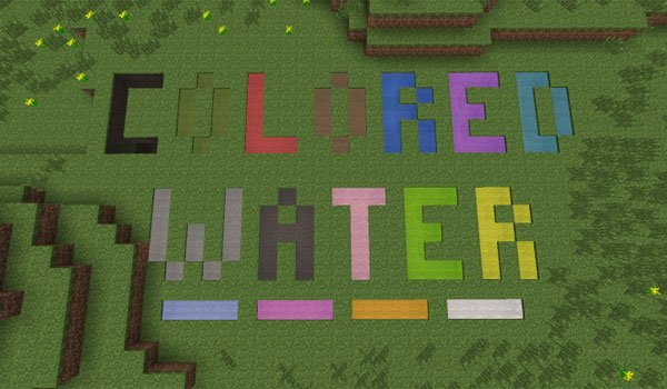 Colored Water Mod for Minecraft 1.6.2