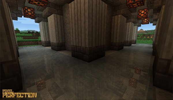 image of the interior of a building, using the Pixel Perfection textures 1.10 and 1.9