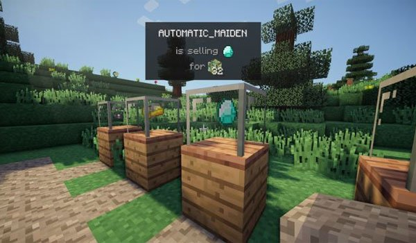 Vending Block Mod for Minecraft 1.10 and 1.9