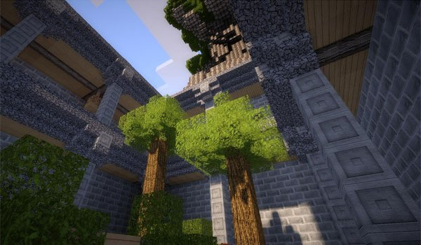 image of a tree next to a building, using textures Life HD 1.8 for your decor.