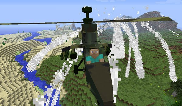 MC Helicopter Mod for Minecraft 1.7.10 and 1.7.2