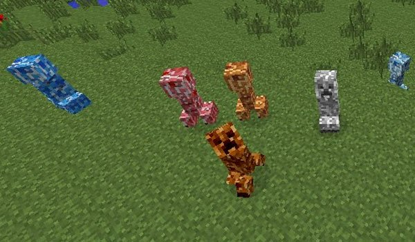 Varied Creepers Mod for Minecraft 1.7.2