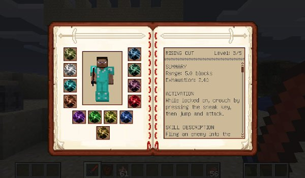 Dynamic Sword Skills Mod for Minecraft 1.7.2 and 1.7.10