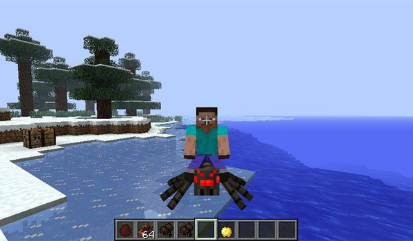 Rideable Spiders Mod for Minecraft 1.7.2