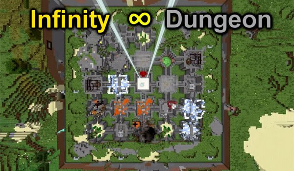 Infinity Dungeon Map for Minecraft 1.8