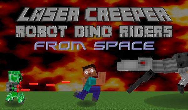 Laser Creeper Robot Dino Riders Mod for Minecraft 1.7.10
