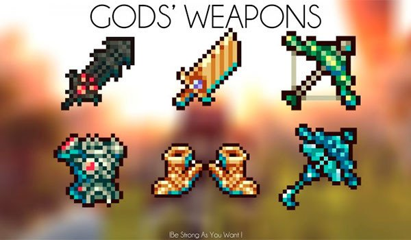 God's Weapons Mod for Minecraft 1.7.10
