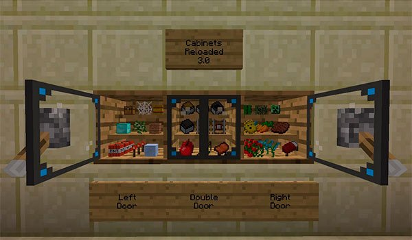 Cabinets Mod for Minecraft 1.8
