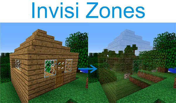 Invisi Zones Mod for Minecraft 1.7.10