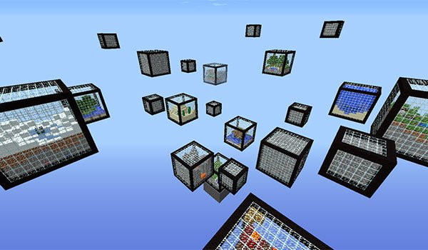 image where we can see the different biomes cubes adds micro cubes map 1.8