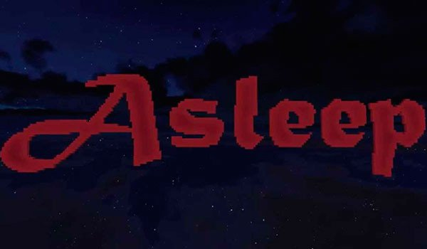 Asleep Map for Minecraft 1.8