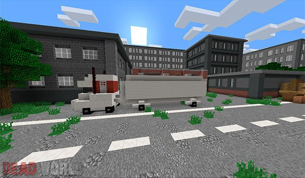 image of one of the areas of the city devastated by zombies.