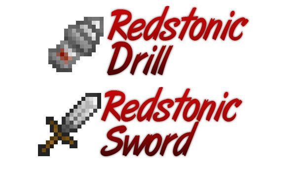 picture where we see the sword and drill added by this mod.