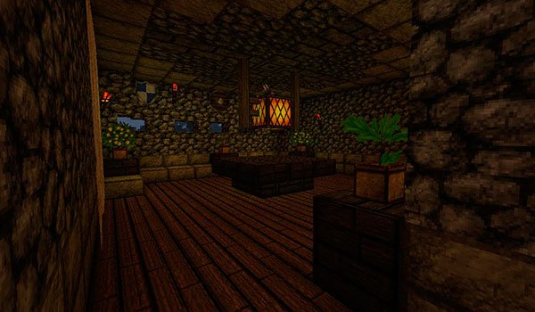picture of the inside of a house using creative one's texture pack.