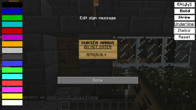 Text Formatting Minecraft Mods