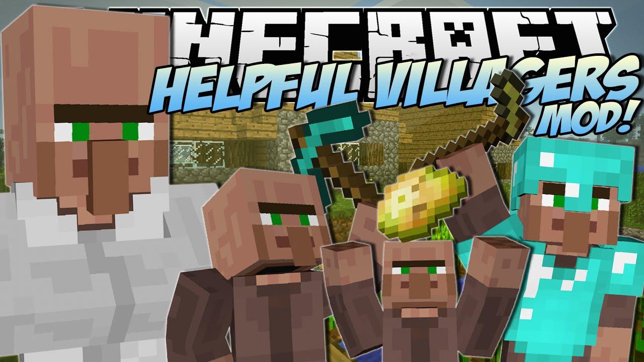Helpful Villagers Mod for Minecraft 1.16/1.15.2