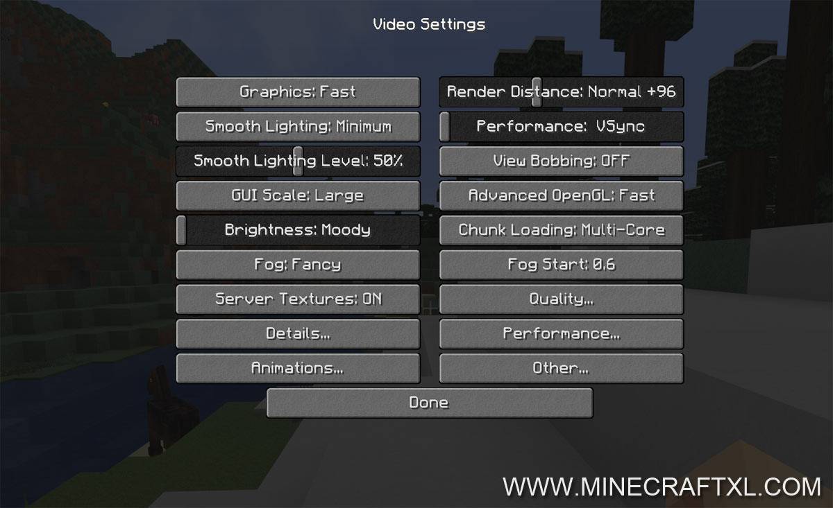 OptiFine HD FPS Boost Mod Download For Minecraft 181716