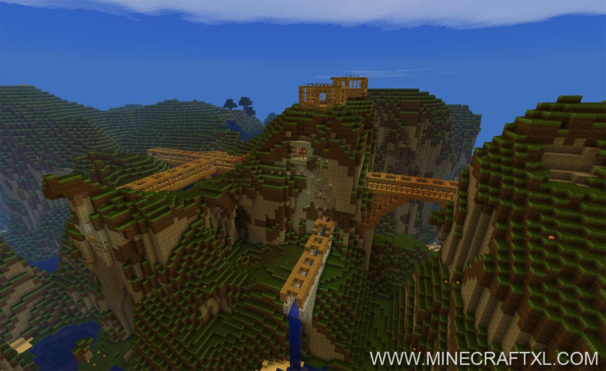 Minecraft River Dam Map  Staudamm for Minecraft 162  MinecraftXL