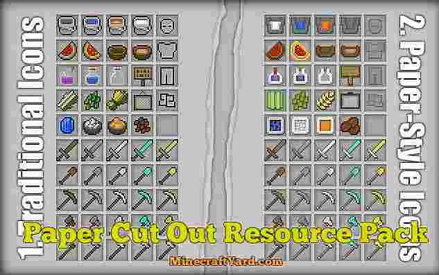 Paper Cut Out Resource Pack 1.16.5/1.15.2