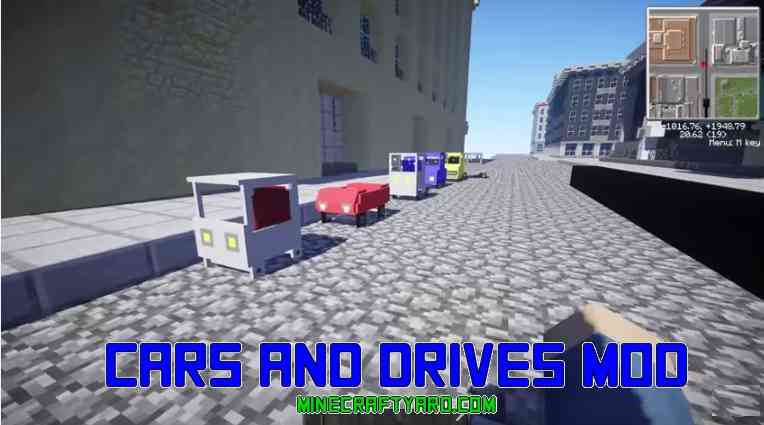 Cars and Drives Mod 1.16.2/1.16.1/1.15.2