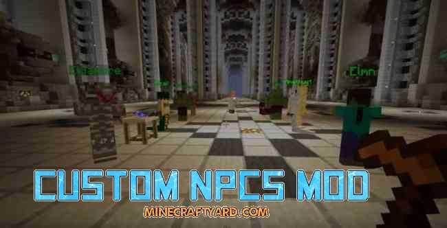 Custom NPCs Mod 1.17.1/1.16.5