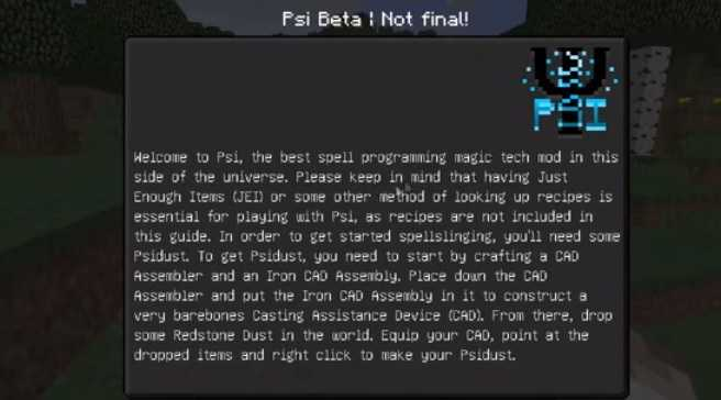PSI Mod For Minecraft