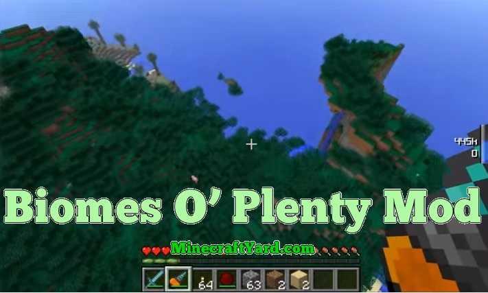 Biomes O' Plenty Mod 1.14.4/1.13.2/1.12.2/1.11.2