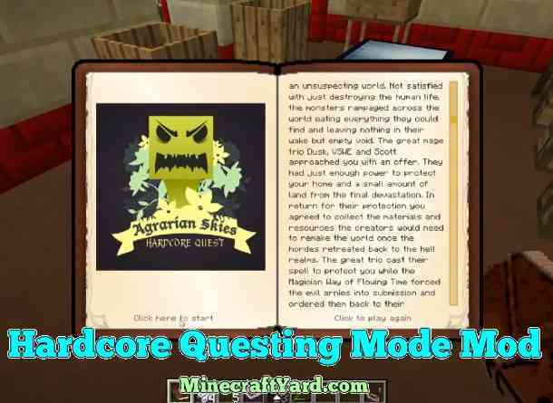 Harcore Questing Mode 1.16.5/1.15.2