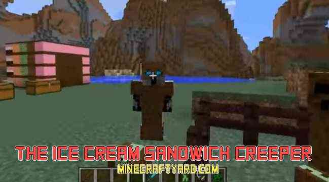 Ice Cream Sandwich Creeper Mod 1.14/1.13.2/1.12.2/1.11.2