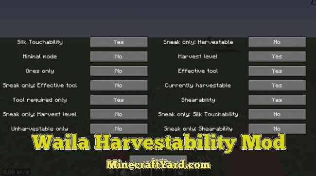 Waila Harvestibility Mod 1.16.5/1.15.2