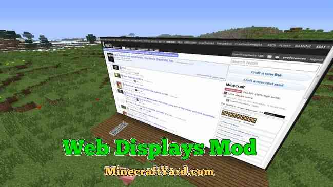 Web Displays Mod 1.16.4/1.15.2