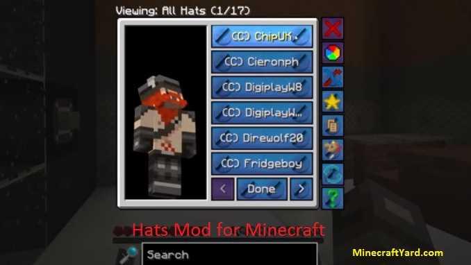 Hats Mod 1.16.5/1.15.2