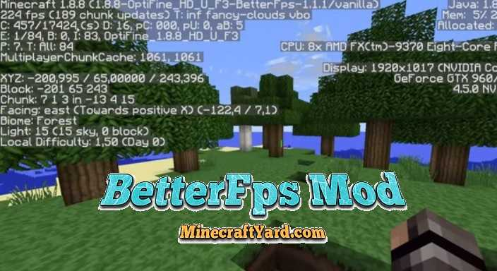 BetterFps Mod 1.16.5/1.15.2