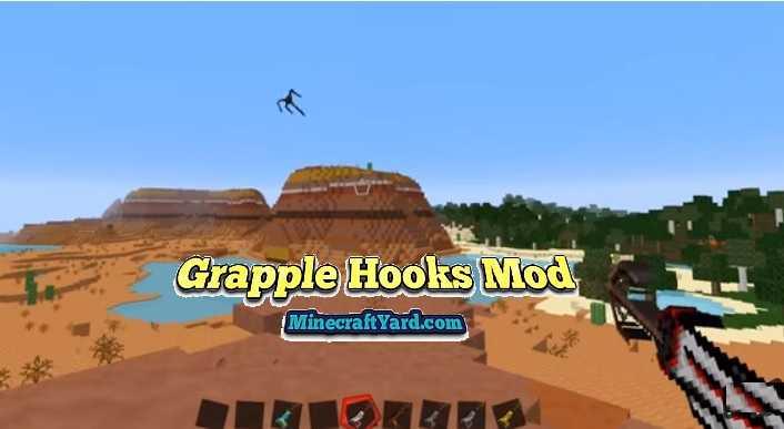 Grapple Hooks Mod 1.14/1.13.2/1.12.2/1.11.2