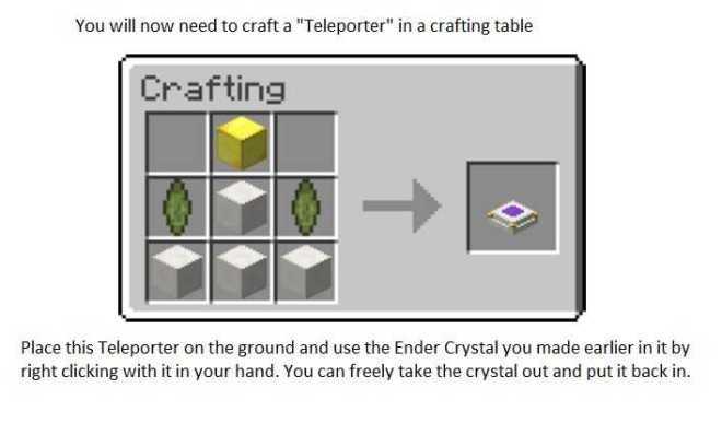 Simple Teleporters Mod Crafting Recipe