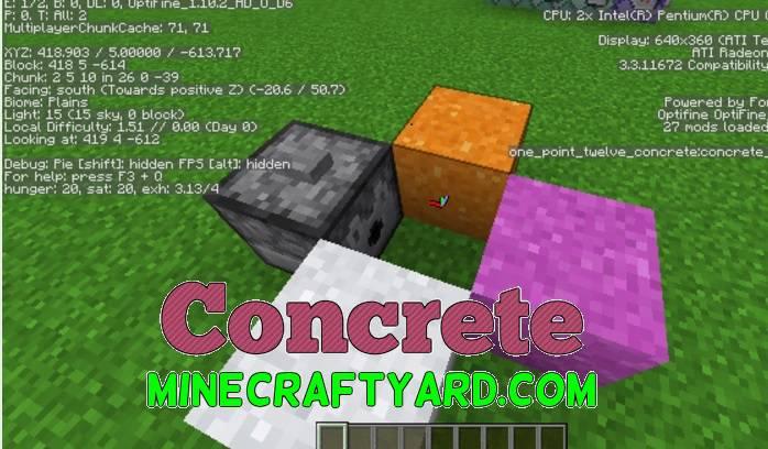 Concrete Mod 1.14/1.13.2/1.12.2/1.11.2