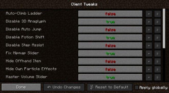 Client Tweaks Mod 1.11.2