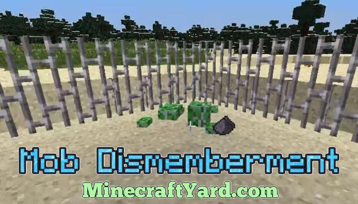 Mob Dismemberment 1.14.3/1.13.2/1.12.2/1.11.2