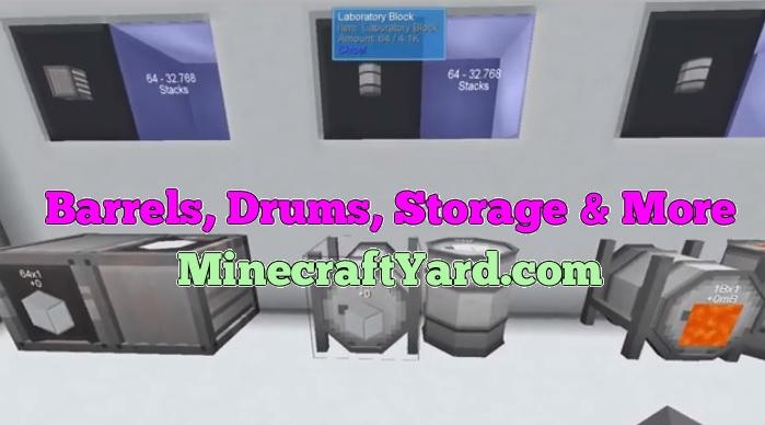 Barrels Drums Storage and more 1.16.5/1.15.2