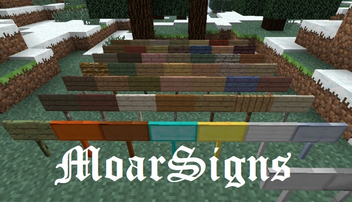 MoarSigns Mod 1.16.5/1.15.2