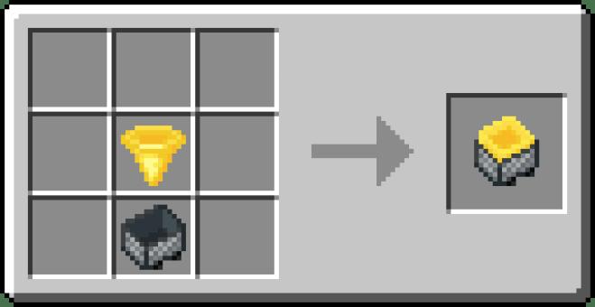GOLDEN hopper crafting 2