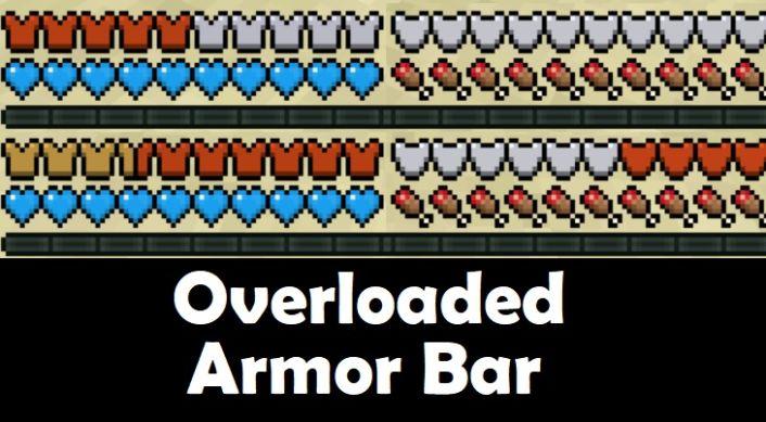 Overloaded Armor Bar Mod 1.16.3/1.15.2